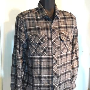 Hurley Gray Plaid Flannel